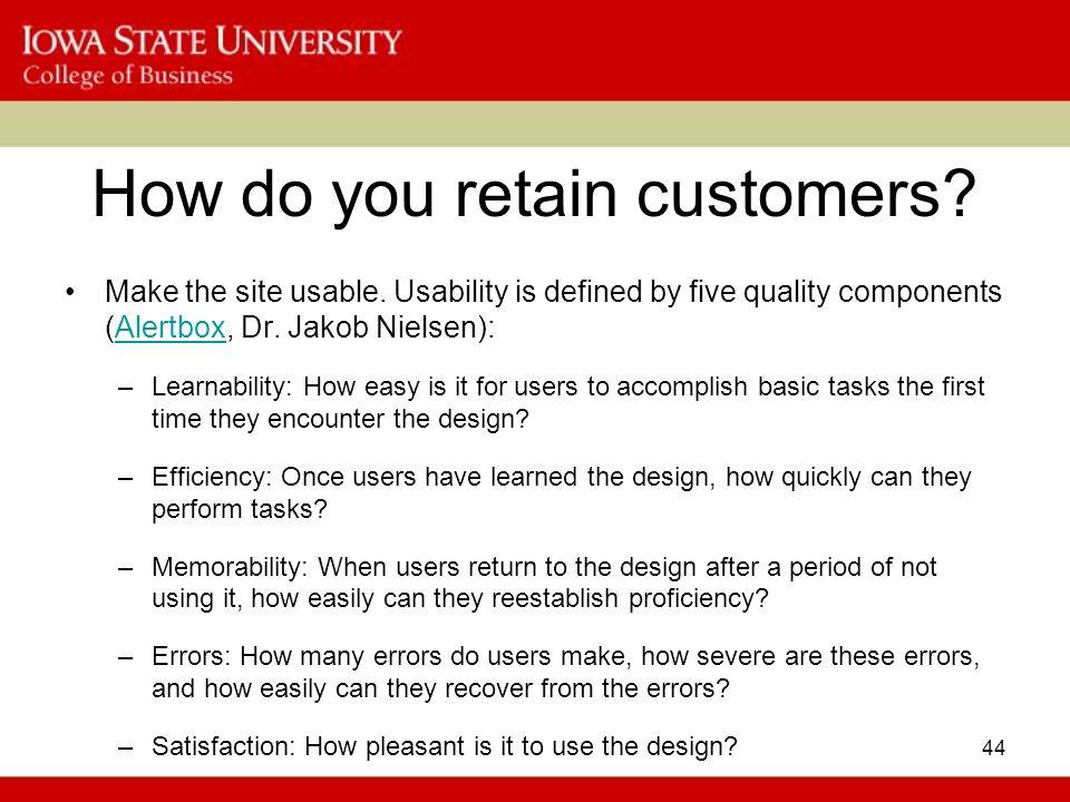 How do you retain customers