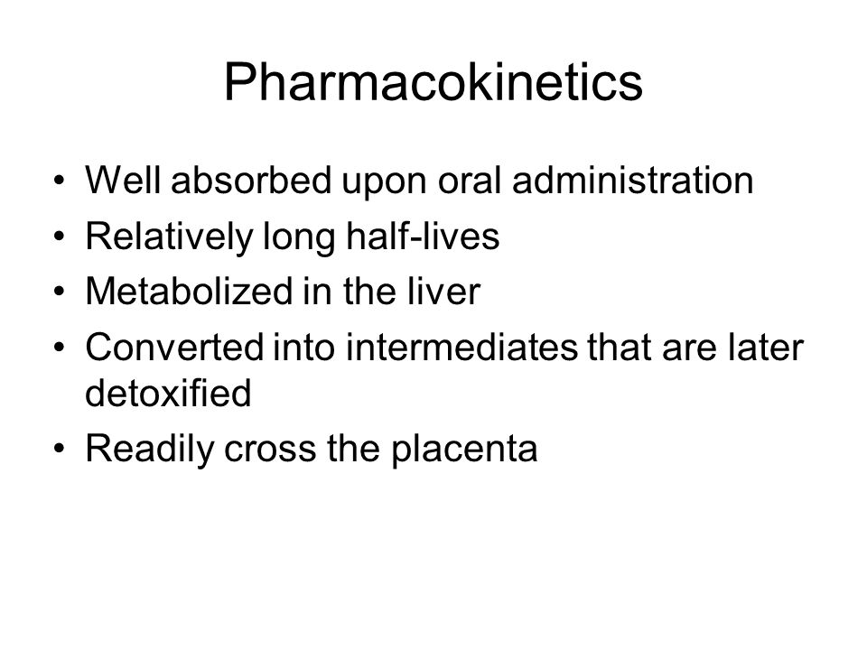 Pharmacokinetics Well absorbed upon oral administration