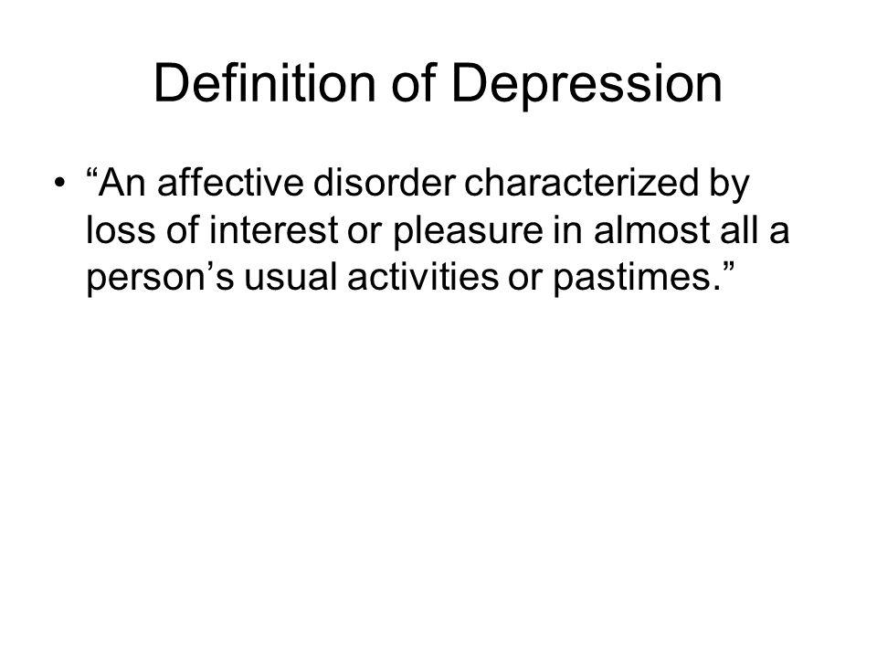 Definition of Depression