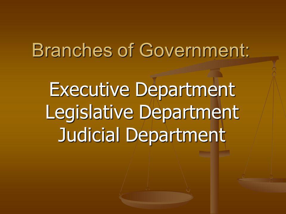 Branches of Government: