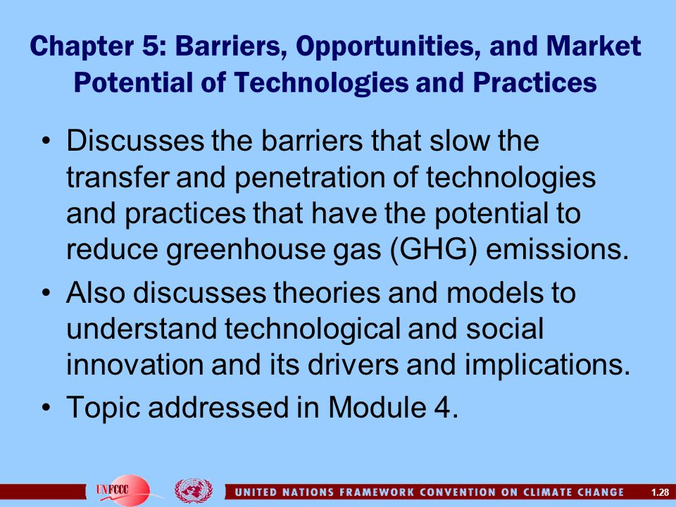 Chapter 5: Barriers, Opportunities, and Market Potential of Technologies and Practices
