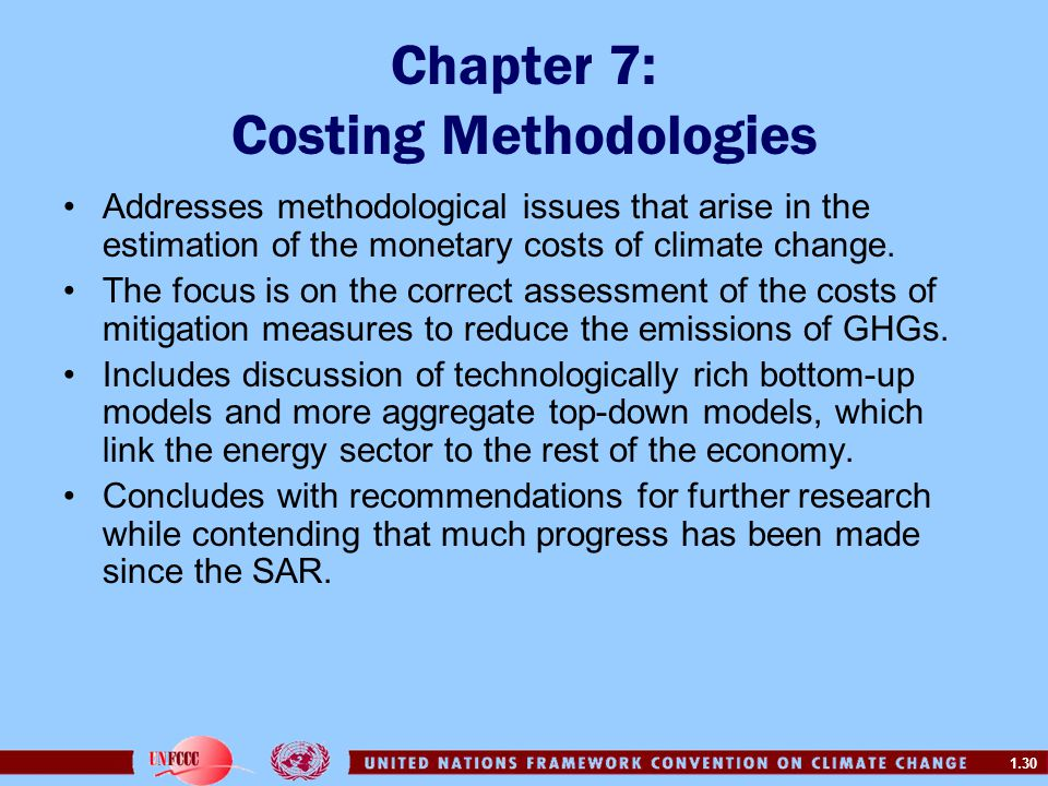 Chapter 7: Costing Methodologies