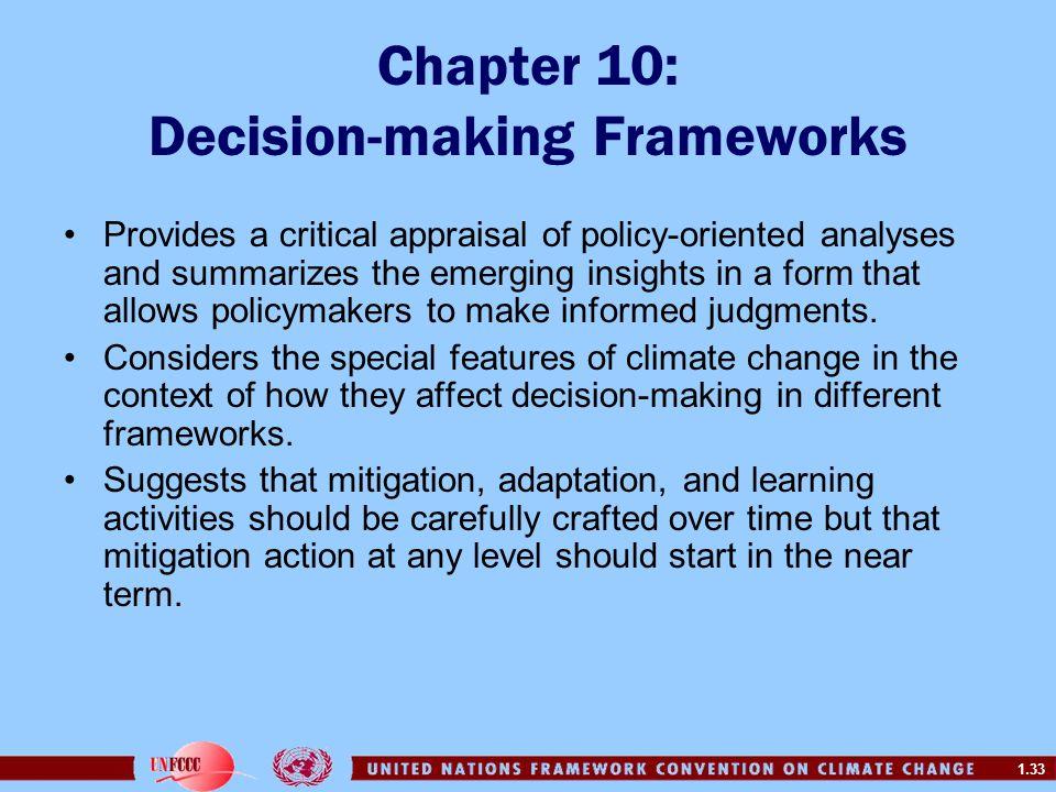 Chapter 10: Decision-making Frameworks
