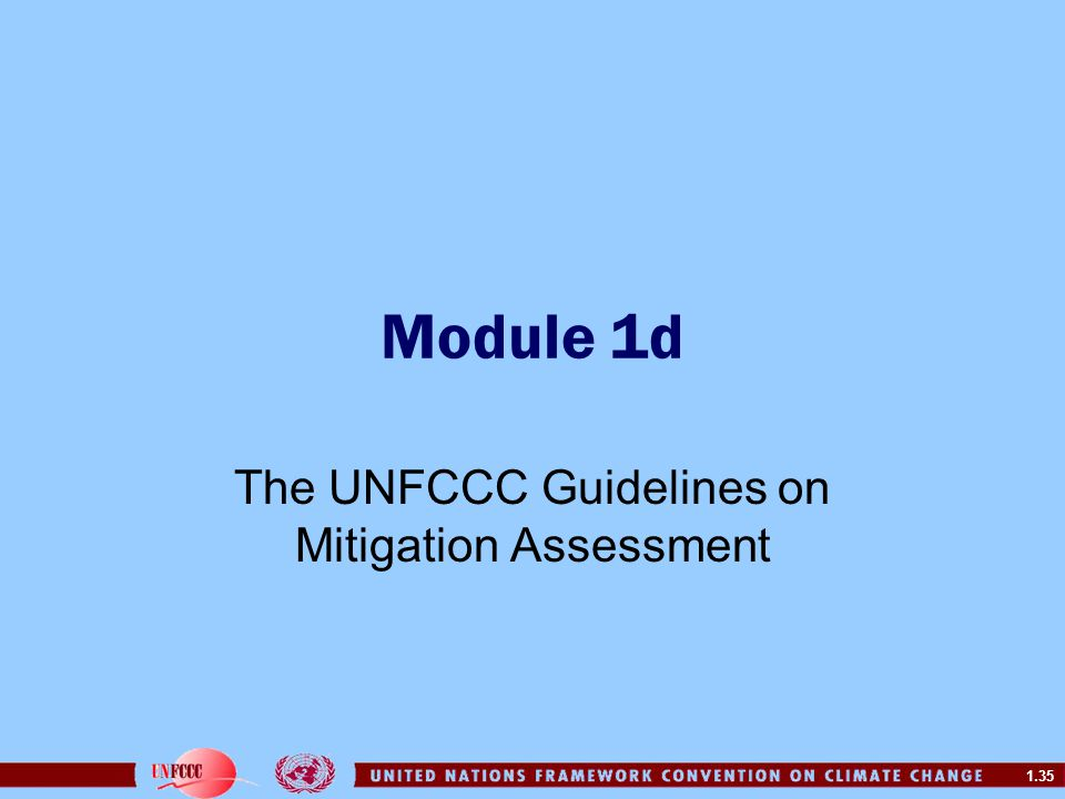 The UNFCCC Guidelines on Mitigation Assessment