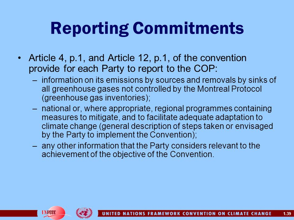 Reporting Commitments