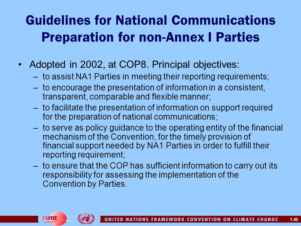 Guidelines for National Communications Preparation for non-Annex I Parties
