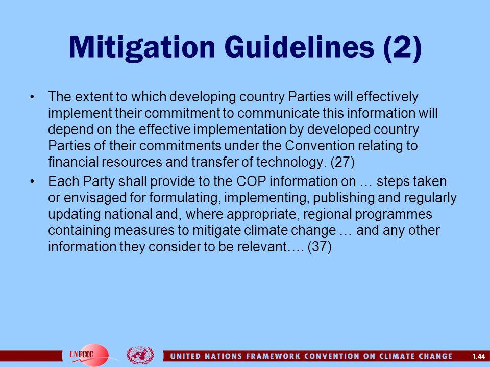 Mitigation Guidelines (2)
