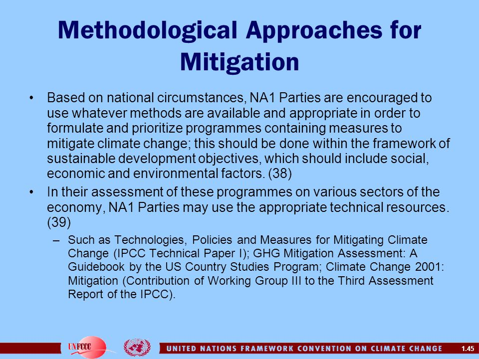 Methodological Approaches for Mitigation