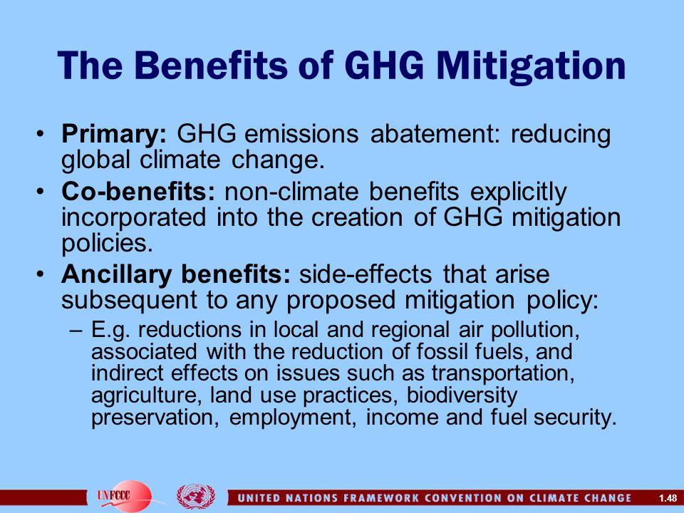 The Benefits of GHG Mitigation