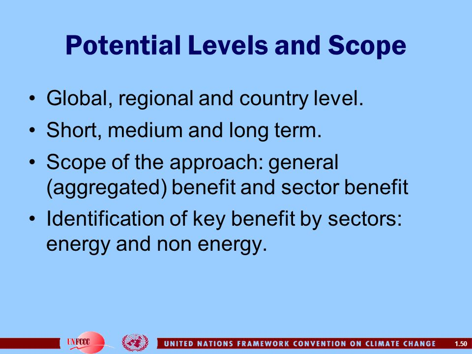 Potential Levels and Scope