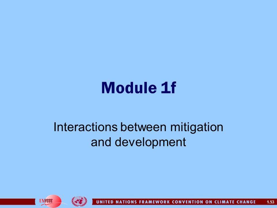 Interactions between mitigation and development
