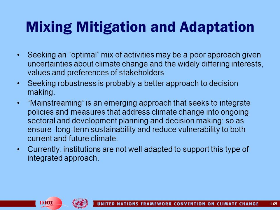 Mixing Mitigation and Adaptation