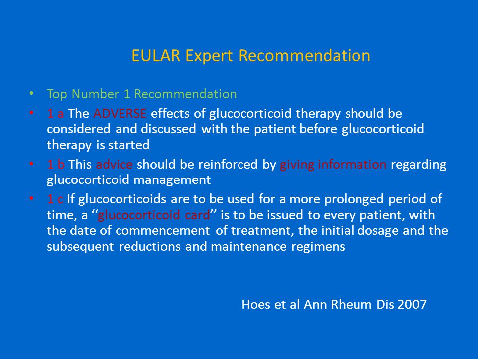 EULAR Expert Recommendation