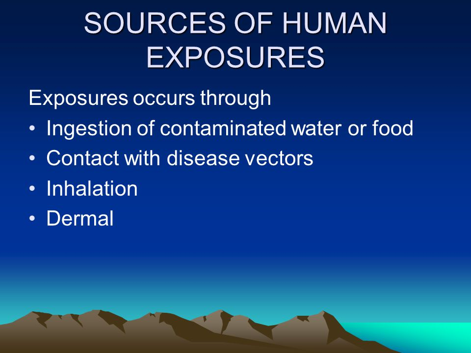 SOURCES OF HUMAN EXPOSURES