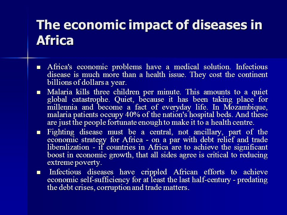 The economic impact of diseases in Africa