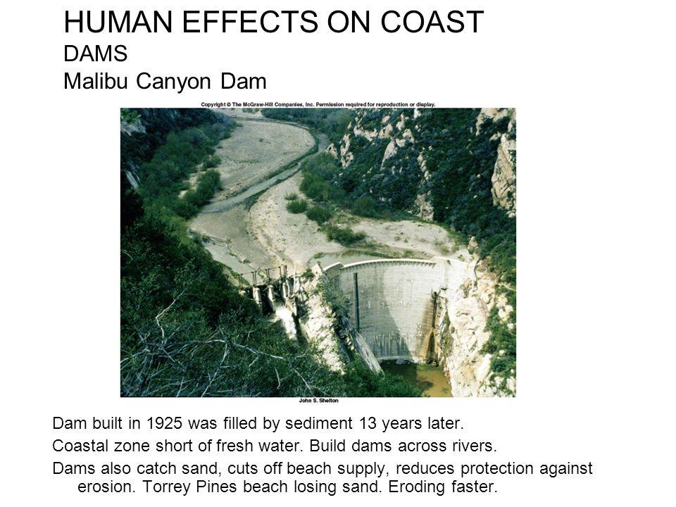 HUMAN EFFECTS ON COAST DAMS Malibu Canyon Dam