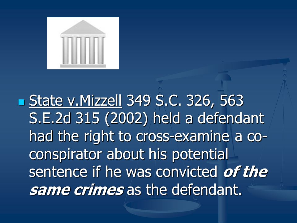 State v.Mizzell 349 S.C.