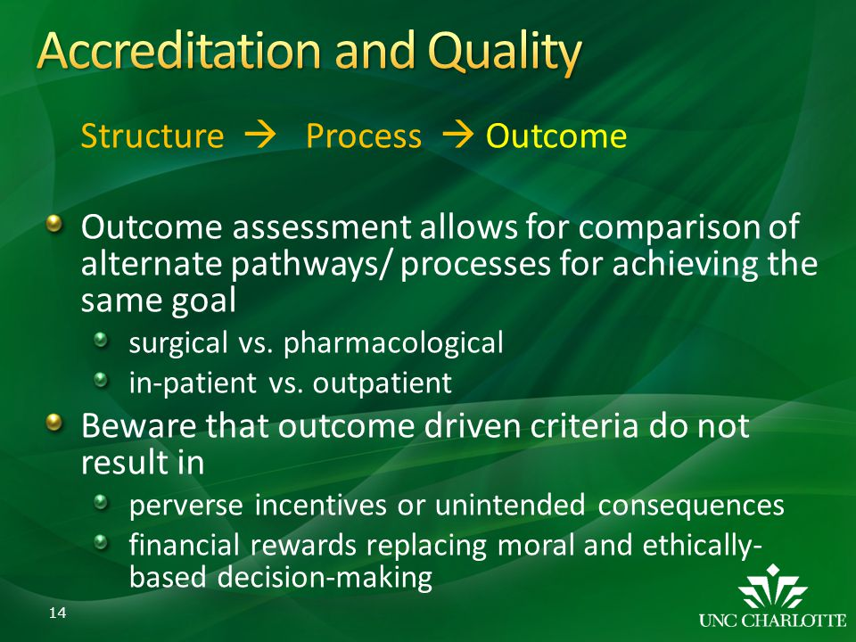 Accreditation and Quality