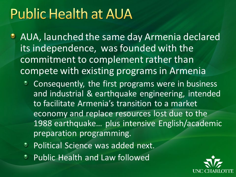 Public Health at AUA