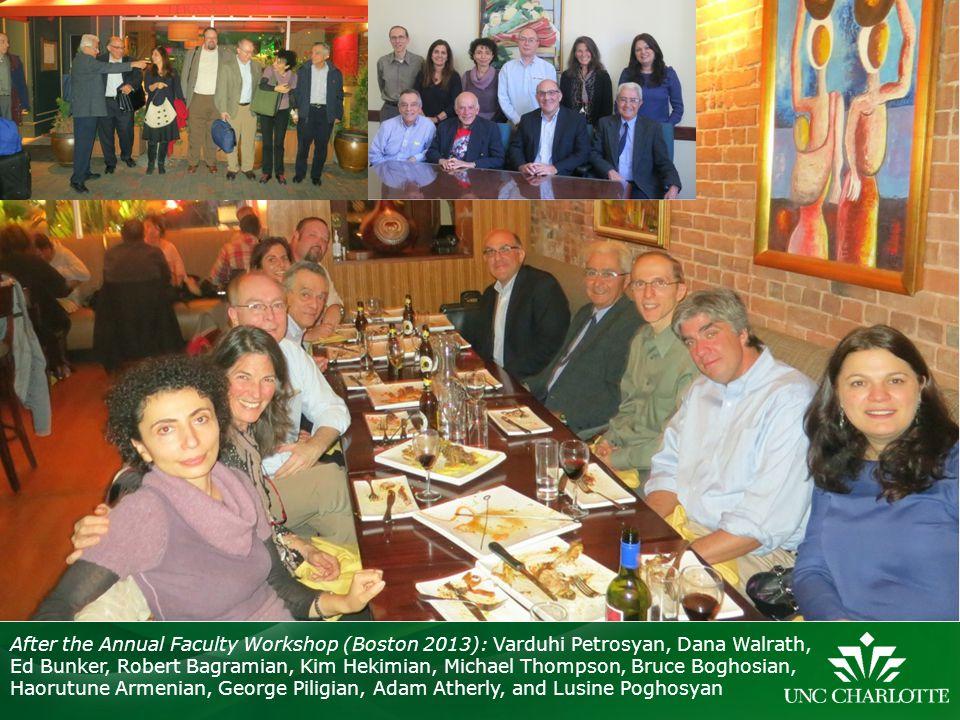 After the Annual Faculty Workshop (Boston 2013): Varduhi Petrosyan, Dana Walrath,