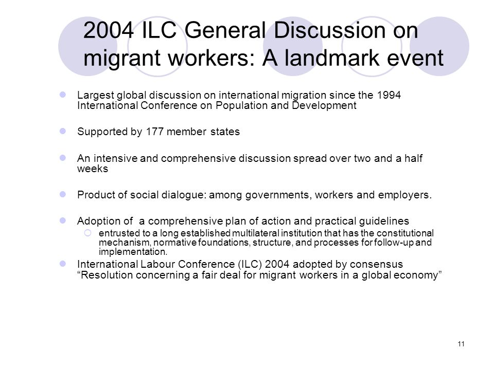 2004 ILC General Discussion on migrant workers: A landmark event