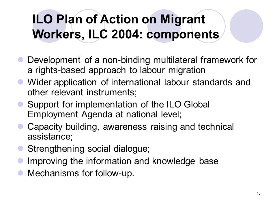 ILO Plan of Action on Migrant Workers, ILC 2004: components