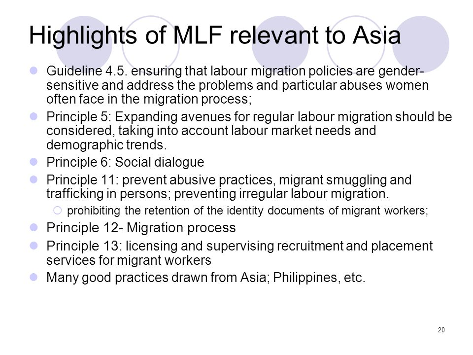 Highlights of MLF relevant to Asia