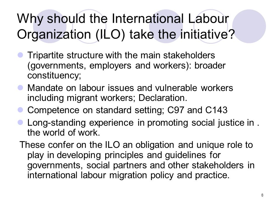 Why should the International Labour Organization (ILO) take the initiative