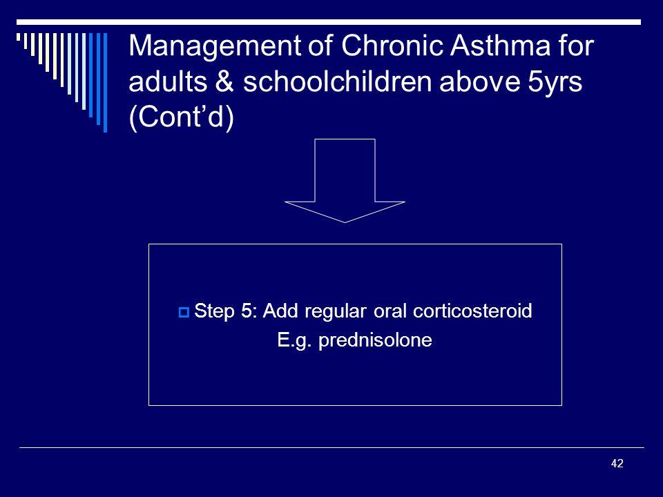 Step 5: Add regular oral corticosteroid