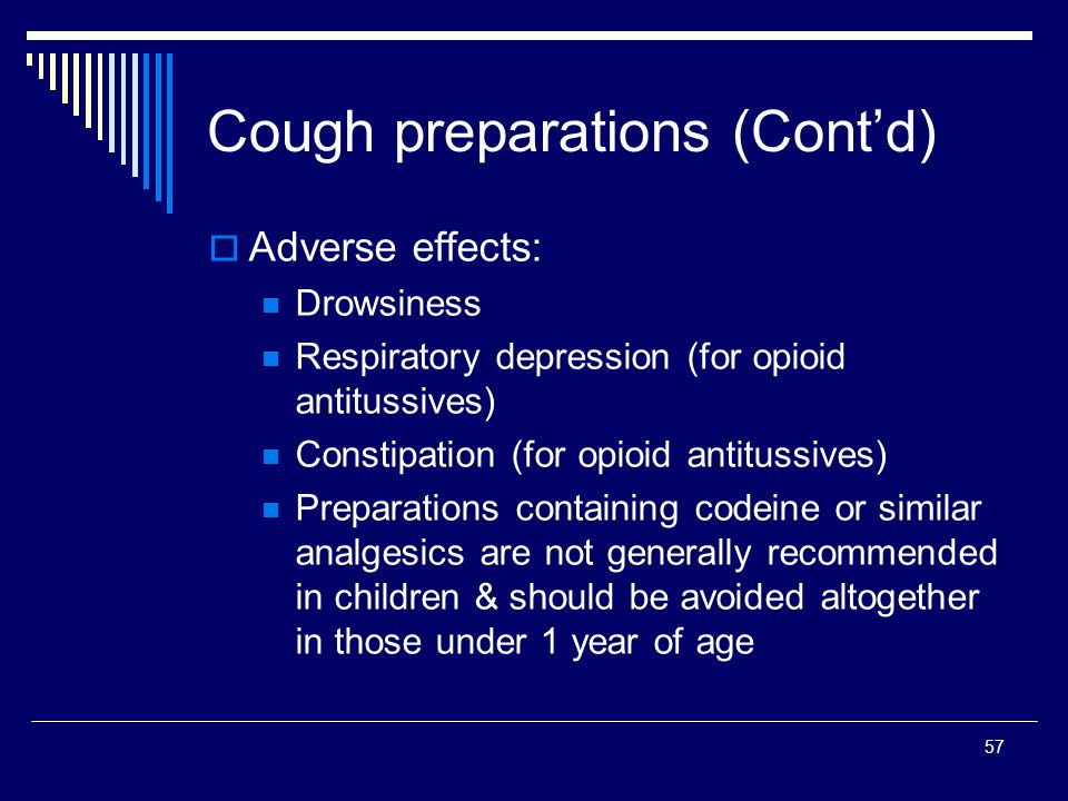 Cough preparations (Cont'd)