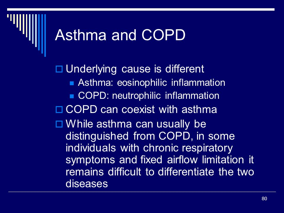 Asthma and COPD Underlying cause is different