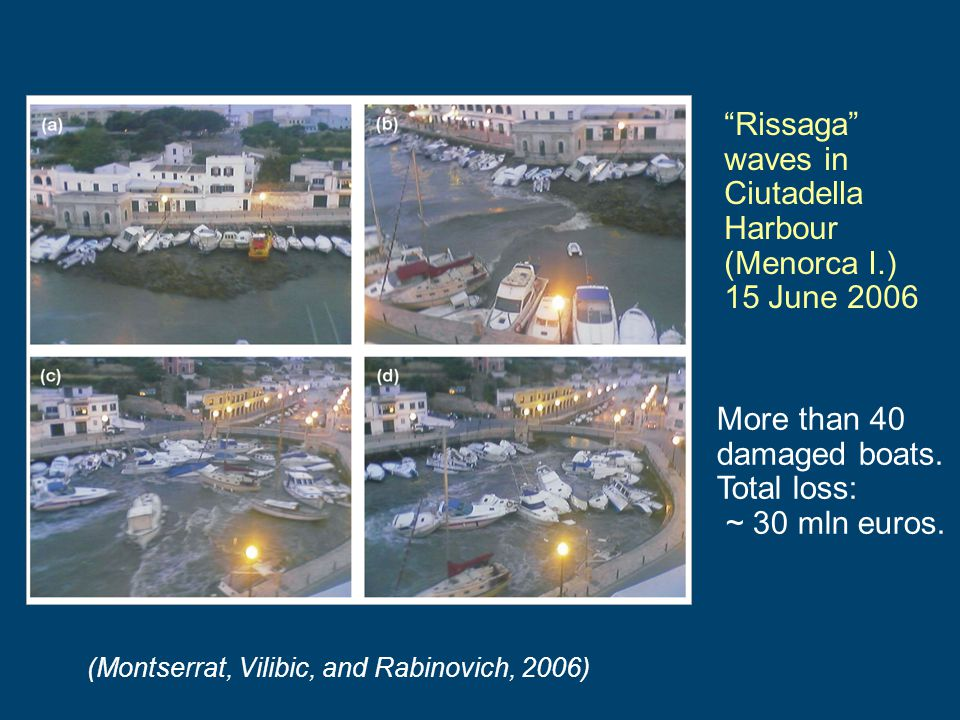 Rissaga waves in Ciutadella Harbour (Menorca I.) 15 June 2006