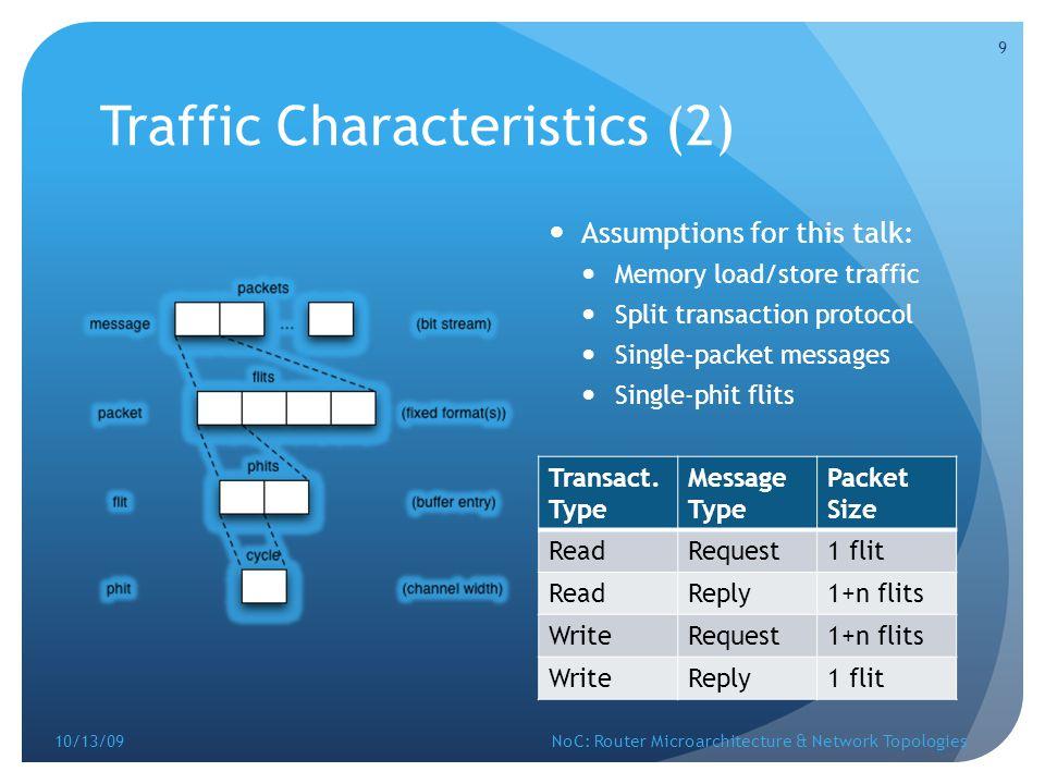 Traffic Characteristics (2)