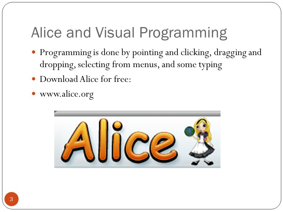 Alice and Visual Programming