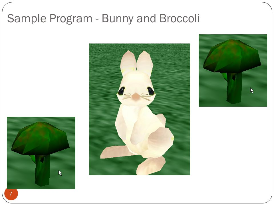 Sample Program - Bunny and Broccoli
