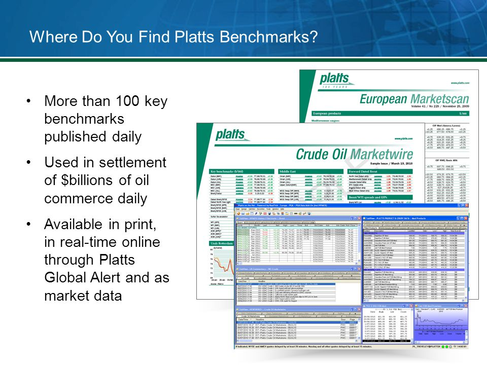 Where Do You Find Platts Benchmarks