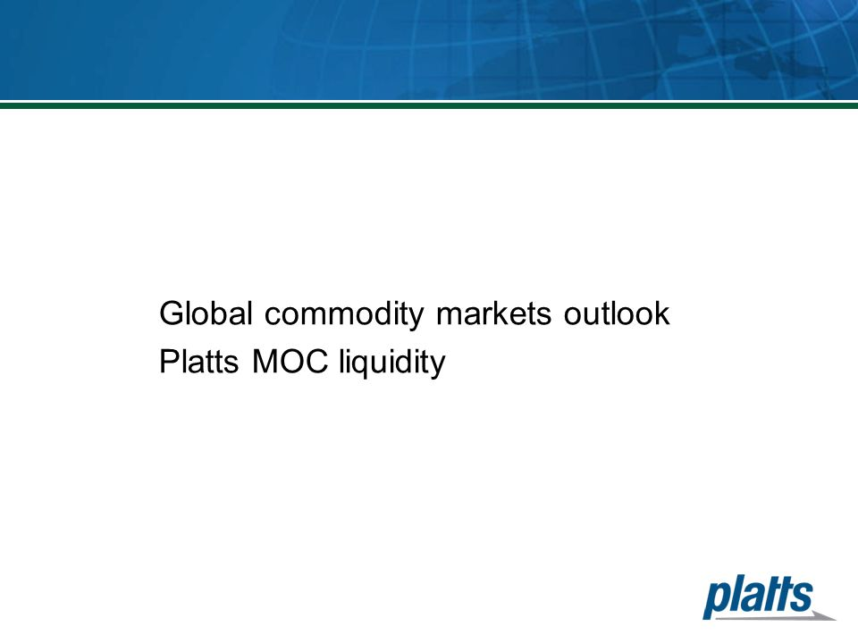 Global commodity markets outlook