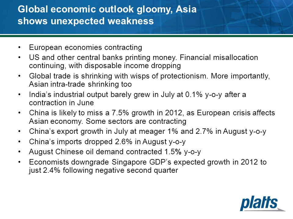 Global economic outlook gloomy, Asia shows unexpected weakness