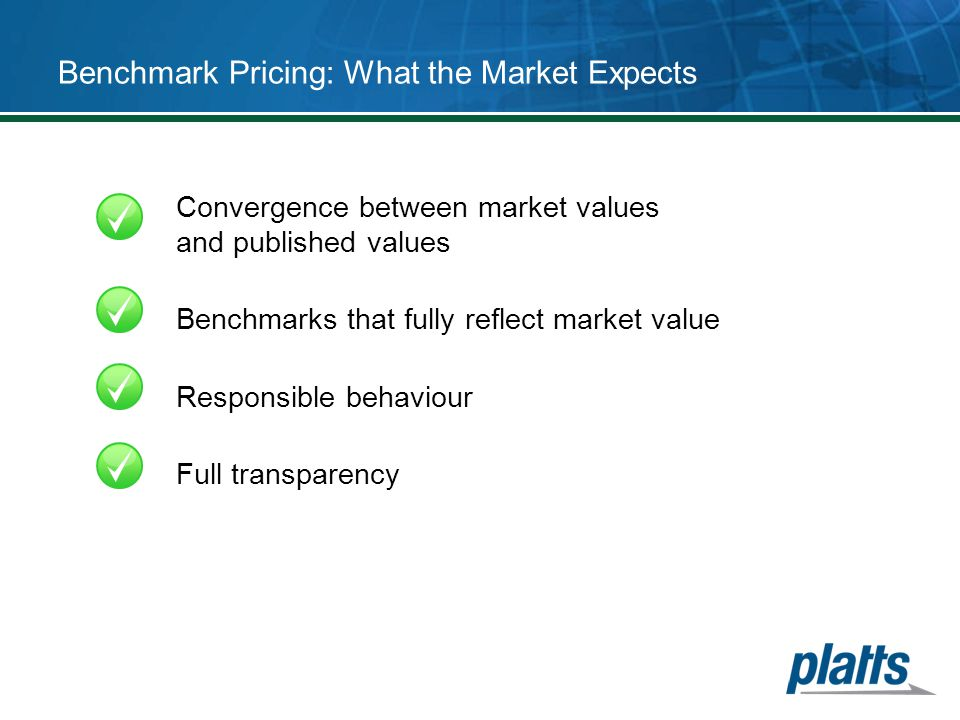 Benchmark Pricing: What the Market Expects