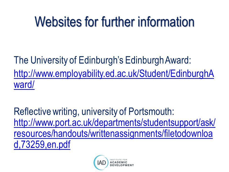 Websites for further information