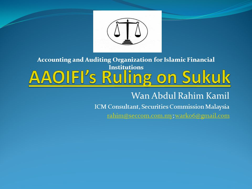 AAOIFI's Ruling on Sukuk