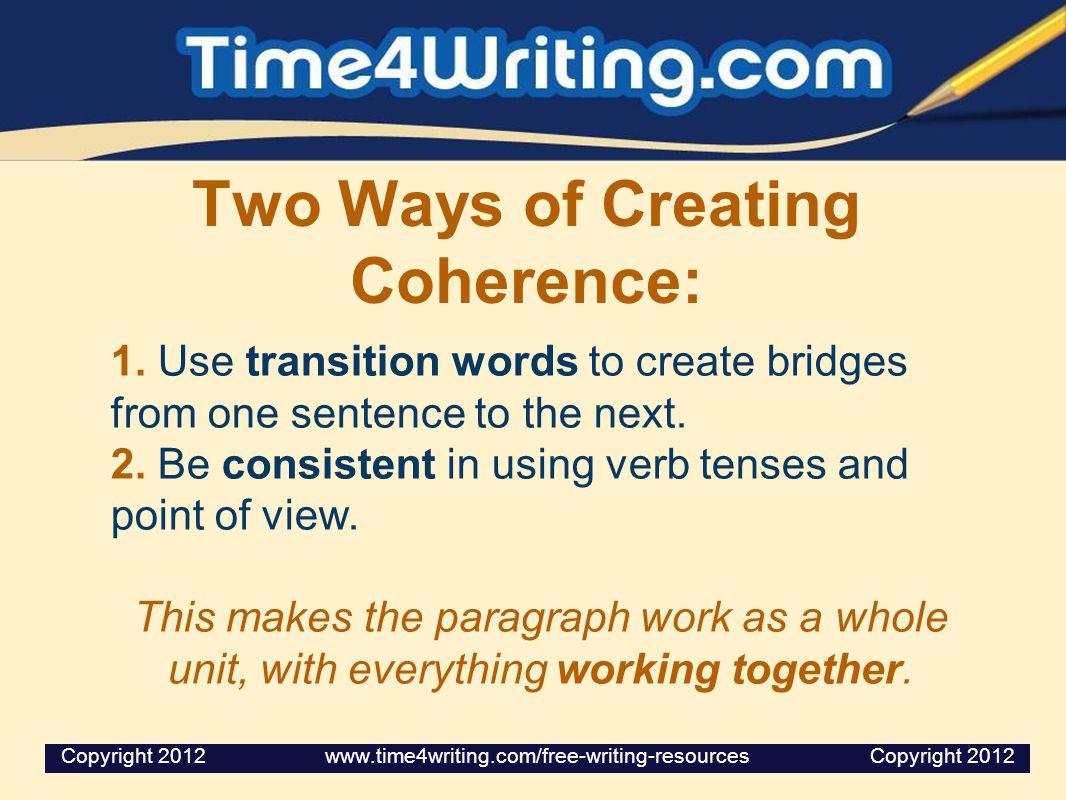 Two Ways of Creating Coherence: