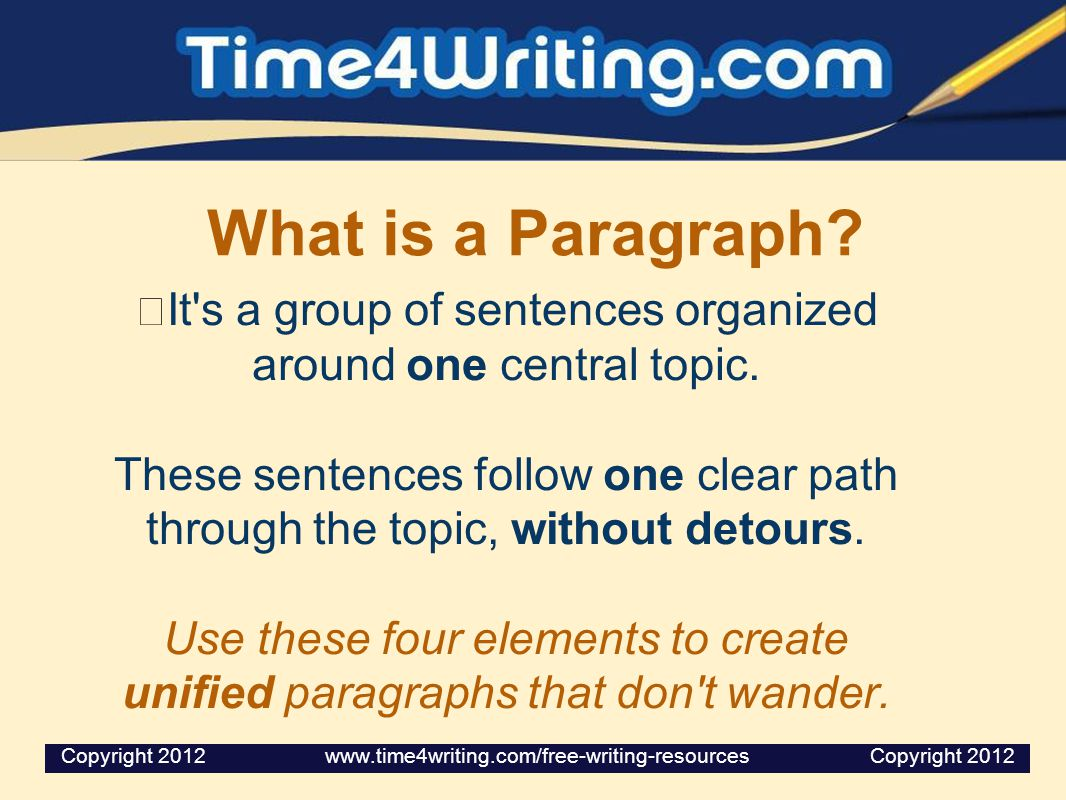 It s a group of sentences organized around one central topic.
