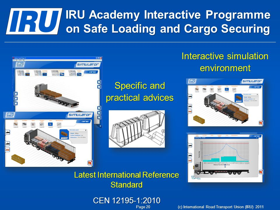 IRU Academy Interactive Programme on Safe Loading and Cargo Securing