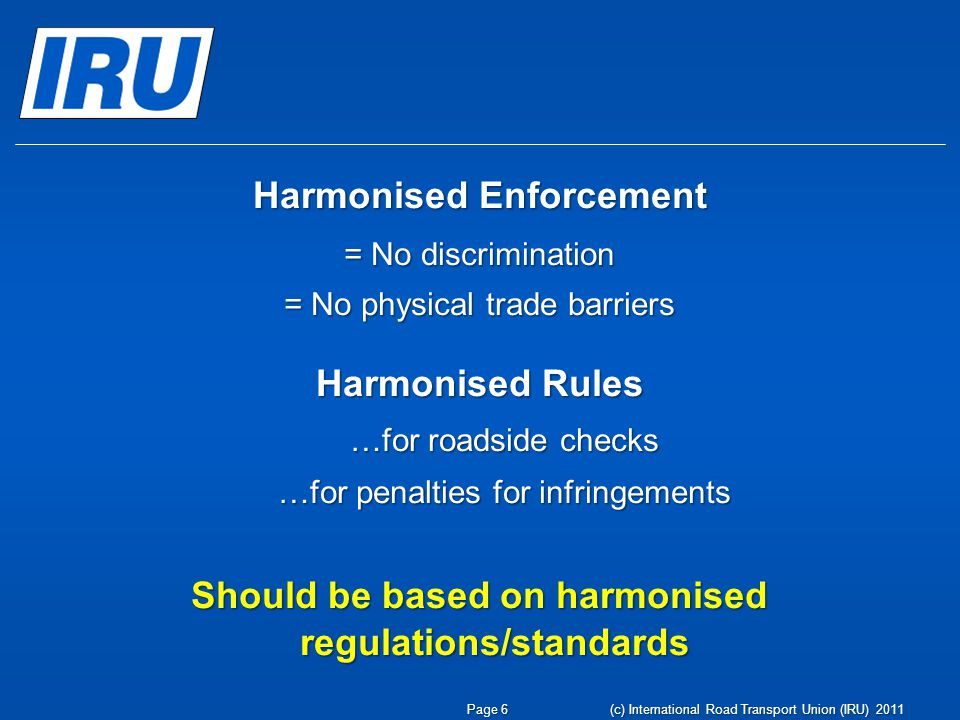 Harmonised Enforcement
