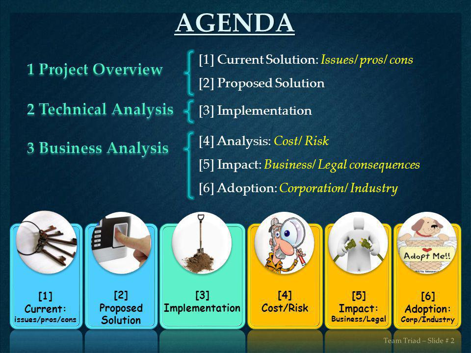 AGENDA 1 Project Overview 2 Technical Analysis 3 Business Analysis