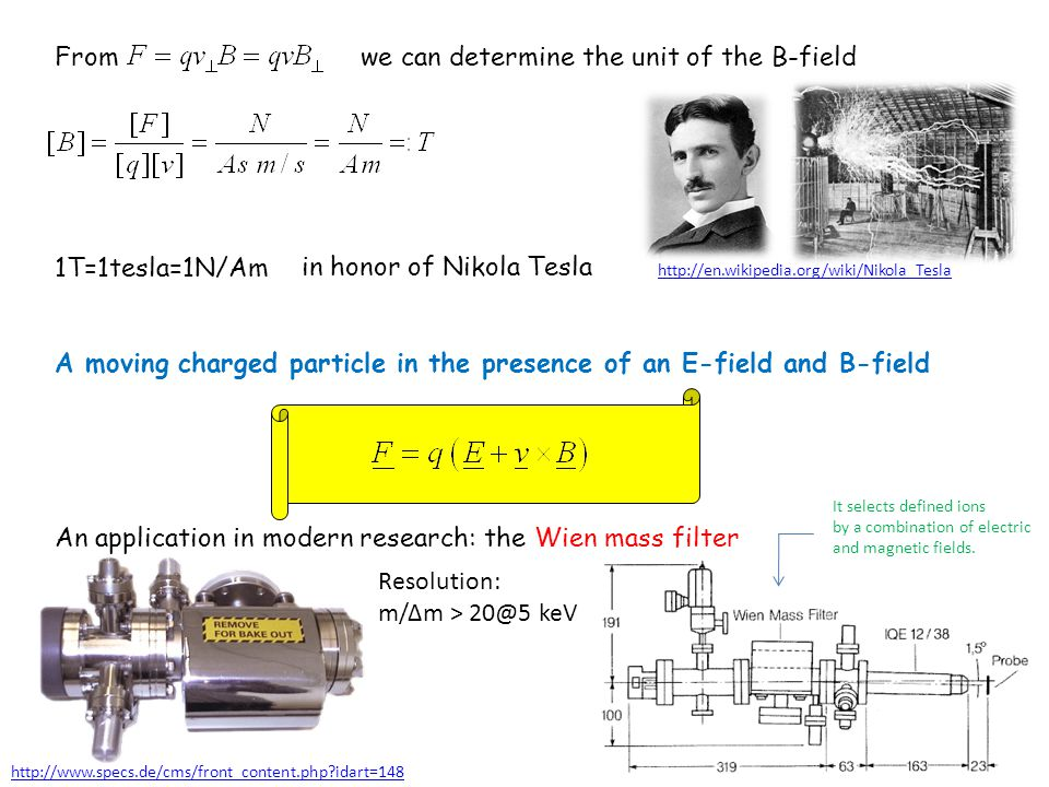 we can determine the unit of the B-field