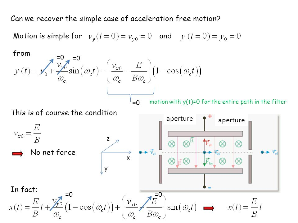 Can we recover the simple case of acceleration free motion