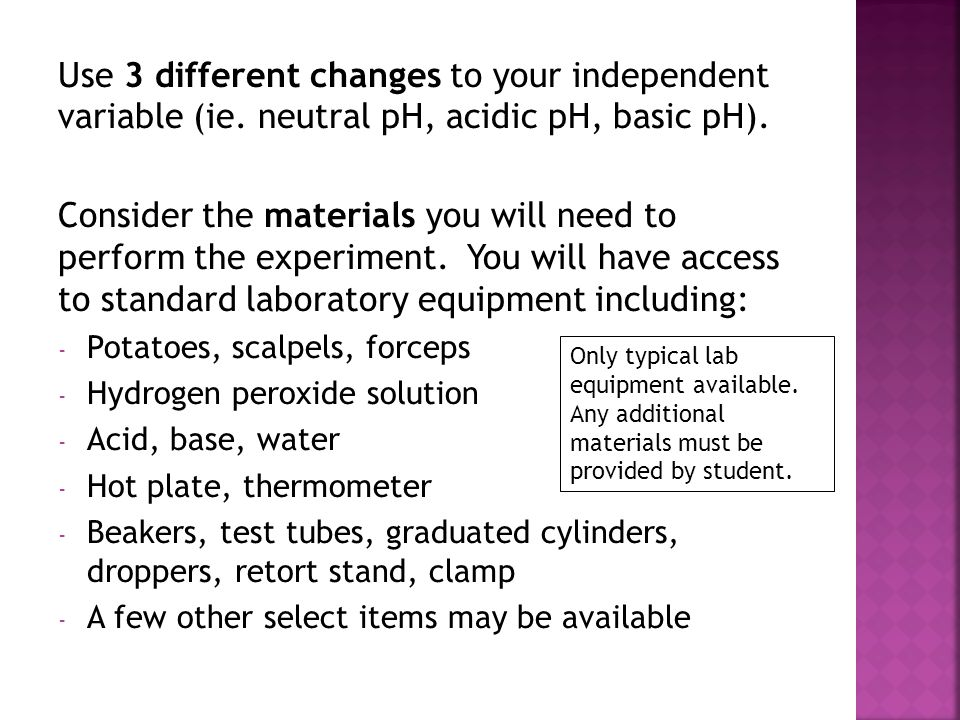 Use 3 different changes to your independent variable (ie
