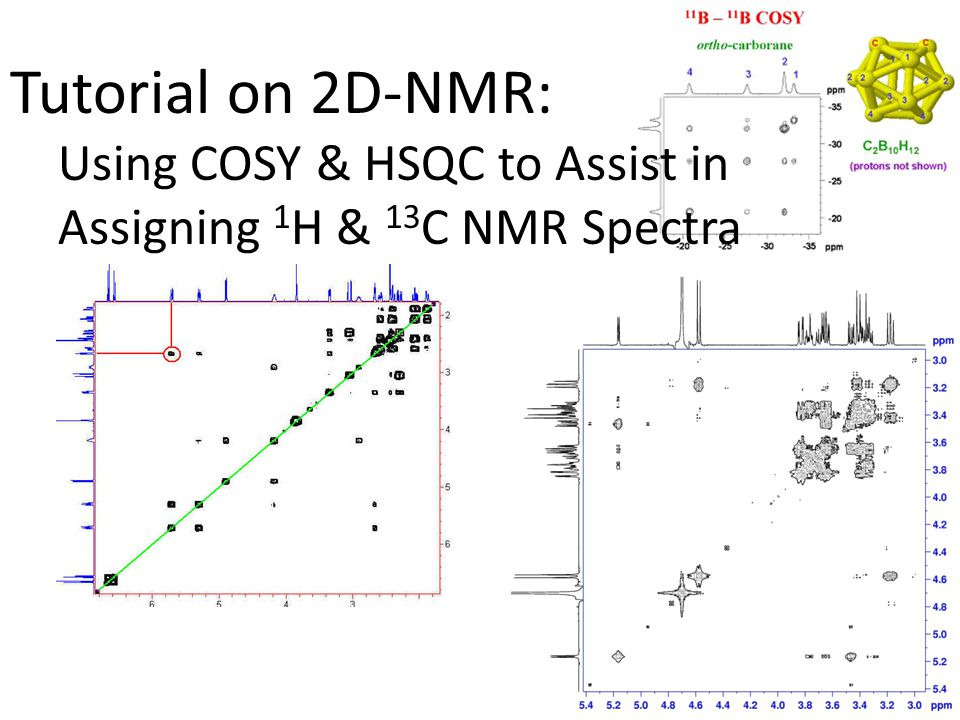 Tutorial on 2D-NMR: Using COSY & HSQC to Assist in Assigning 1H & 13C NMR Spectra